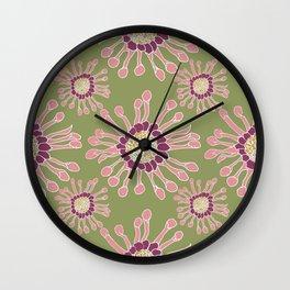 Floral Exotica  Wall Clock