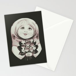 Vintage painting of a matrioska Stationery Cards