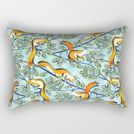 Oak Tree with Squirrels in Summer Rectangular Pillow