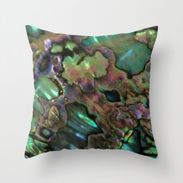 Oil Slick Abalone Mother Of Pearl Throw Pillow