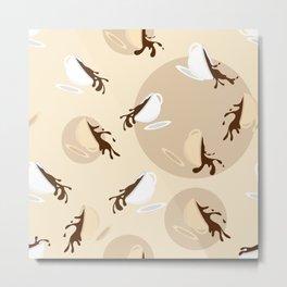 Flying coffee cups Metal Print