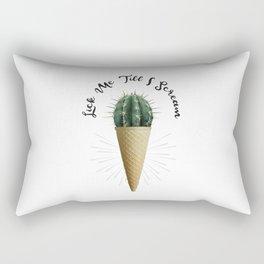 Ice Cream Cactus Lick Me Rectangular Pillow