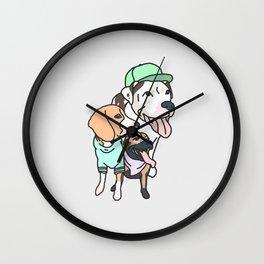 Dog Squad Goals Wall Clock