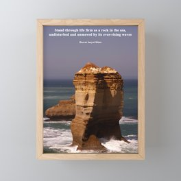 Stand Like a Rock Framed Mini Art Print