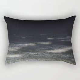 A walk on the pier at night Rectangular Pillow
