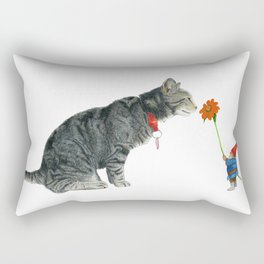 Cairo and Gnome with Sunflower Rectangular Pillow