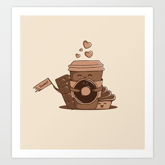 Caffeinated Love Art Print