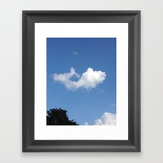 Whale Cloud Framed Art Print