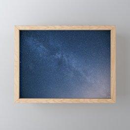 Blue Galaxy Framed Mini Art Print