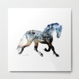 Horse (Summer Friesian) Metal Print