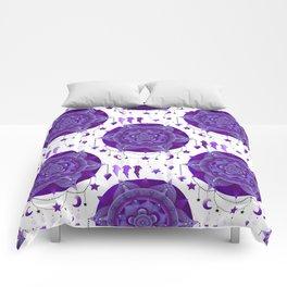 Monochromatic mandala dream catchers Comforters