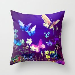 Night Butterflies Throw Pillow