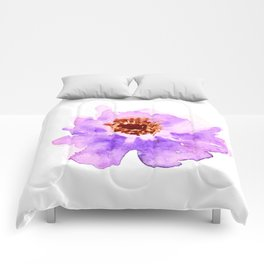 Watercolor Painting - Purple Flower Comforters