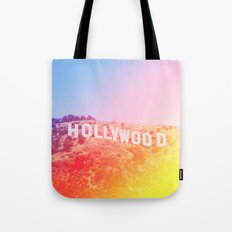 Colorful Hollywood Sign  Tote Bag