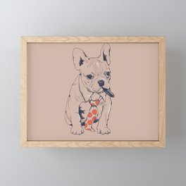 FRENCH BULLDOG BOSS Framed Mini Art Print