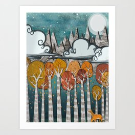 Adventures is Out there - Aspen Falls  Art Print