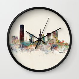 oklahoma city oklahoma Wall Clock