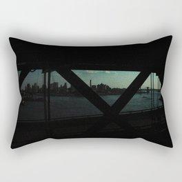 dark bridge nyc Rectangular Pillow