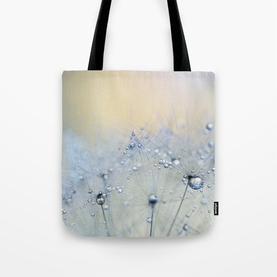 ice blue dandelion Tote Bag