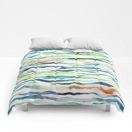 Ocean Zebra Chevron Comforters