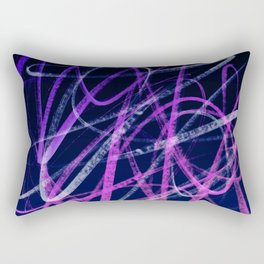 Expressive Deep Magenta and Violet Indigo Abstract Rectangular Pillow