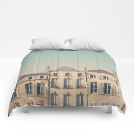 the beautiful french architecture of Metz, France Comforters