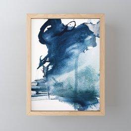 Pacific Grove: a pretty minimal abstract piece in blue by Alyssa Hamilton Art Framed Mini Art Print