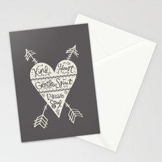 Kind Gentle Brave 2 Stationery Cards