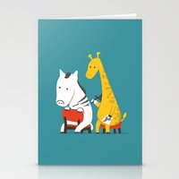 zebra Stationery Cards featuring Zebra Tattoo by Picomodi