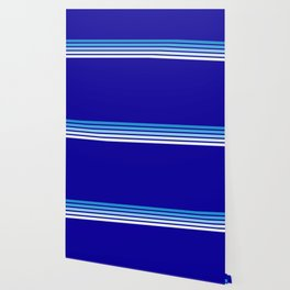 Retro Stripes on Blue Wallpaper