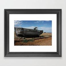 Boat off Course Framed Art Print