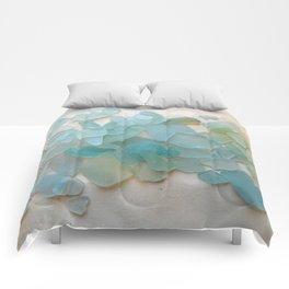 Ocean Hue Sea Glass Comforters