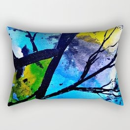 Colorful leaves. A translucent universe full of peace and harmony. Rectangular Pillow