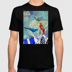 Birds in the backyard. Mens Fitted Tee MEDIUM Black