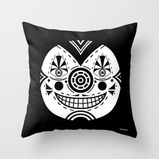 Priest Circle- black on black Throw Pillow