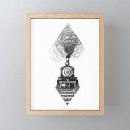 Steam train Framed Mini Art Print