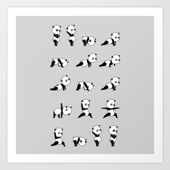 Yoga Bear - Panda Art Print