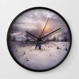 Lone Tree Love II Wall Clock