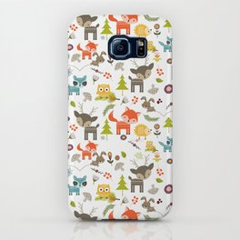 Cute Woodland Creatures Pattern iPhone Case