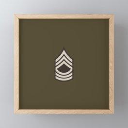 Master Sergeant (Brown) Framed Mini Art Print