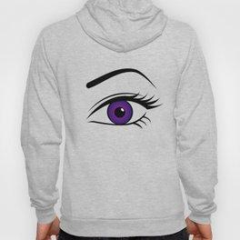 Violet Left Eye Hoody