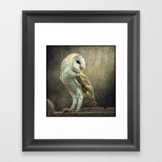 Barn Owl and Mouse Framed Art Print