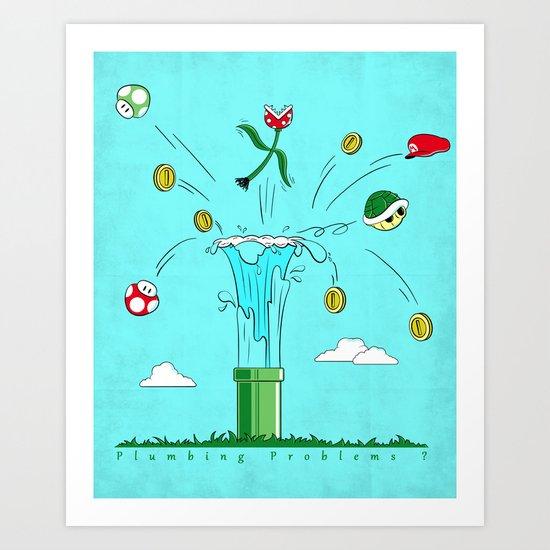 Plumbing Problems?  Art Print