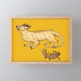 Dachshund Dragon Framed Mini Art Print