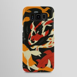 Koi in Black Water Android Case