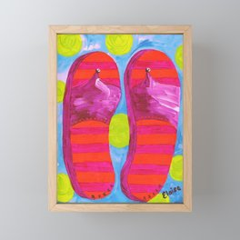 SUMMER FLIP FLOPS! Framed Mini Art Print