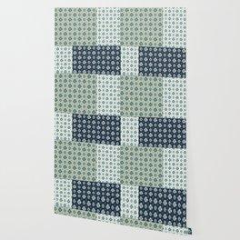 Vintage Tiles #society6 #pattern #indigo Wallpaper