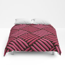 Chocolate Strawberry Latch Pattern Comforters
