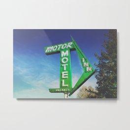 Motor Inn Motel Metal Print