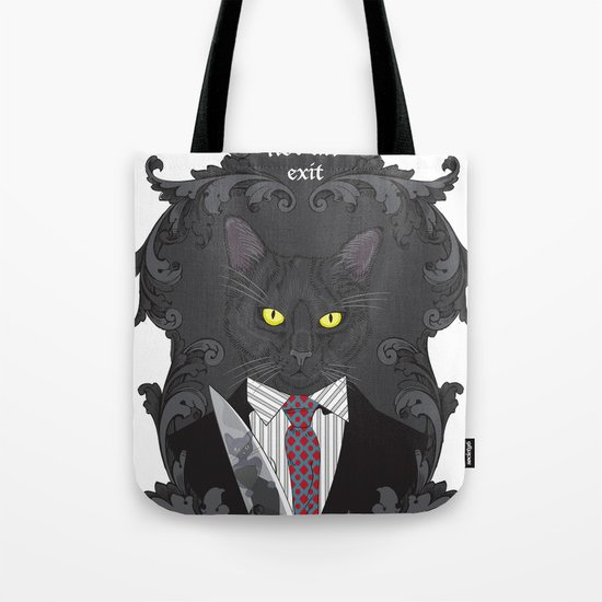American Psycho Kitty Tote Bag